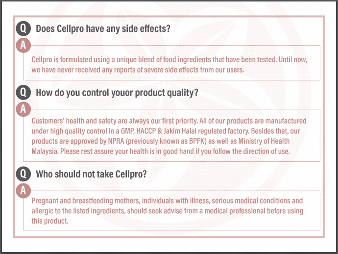 51 Side Effects of Cellpro